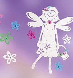 Tavasztündér virágokkal - tavaszi ablakdekoráció papírból (sablon) / Mindy -  kreatív ötletek és dekorációk minden napra Diy Paper, Paper Crafts, Spring Fairy, Projects For Kids, Paper Cutting, Flower Power, Kirigami, Stencils, Christmas Ornaments