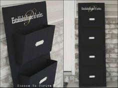 Cardboard Fabric Pocket Organizer