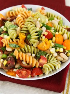 Pasta salad with white beans and corn recipe