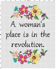A woman's place is in the revolution Funny by SnarkyArtCompany