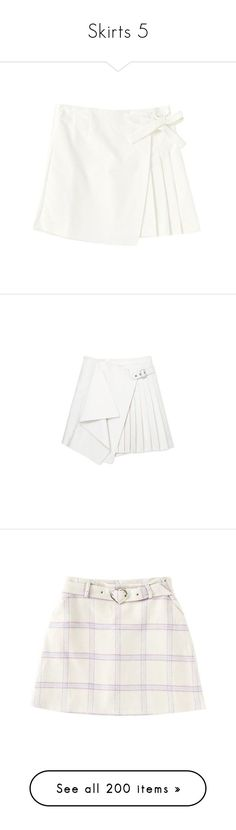 """""""Skirts 5"""" by k-ura ❤ liked on Polyvore featuring activewear, clothing - skirts, skirts, bottoms, faldas, white skirt, white wrap skirt, white pleated skirt, wrap skirts and knee length pleated skirt"""