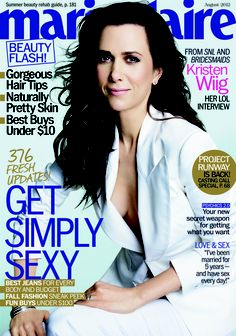 Kristen Wiig Goes Braless For Her Marie Claire