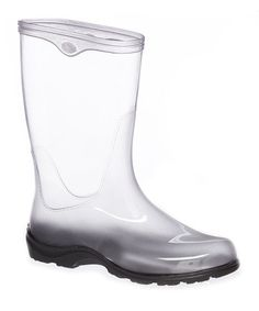 Take a look at this Clear Rain Boot on zulily today! { Clear Boots with Interchangeable Liners }