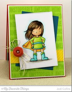 You're Super, Diagonal Stripes Background, Horizontal Stitched Strips Die-namics, Stitched Rectangle STAX Die-namics - Jodi Collins #mftstamps