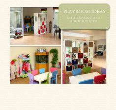 Playroom ideas- Ikea expedit as a room divider