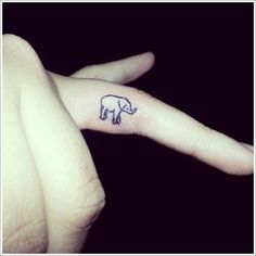 Awesome Elephant Tattoo Designs: White Elephant Tattoo Designs On Finger ~ Tattoo Design Inspiration