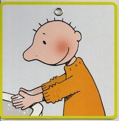 Stappenplan handen wassen: 3 (ik wrijf mijn handen goed in met water)