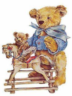 . Vintage Pictures, Vintage Images, Tedy Bear, Teddy Bear Cartoon, Die Cut, Christmas Clipart, Flower Pictures, Ephemera, Little Girls
