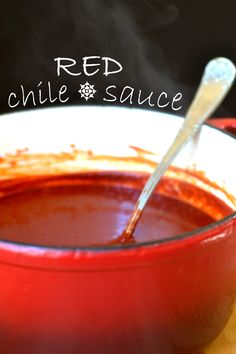 Authentic Mexican Red Chile Sauce, from scratch