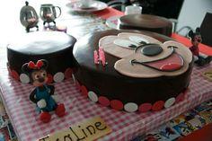 Mickey Mousse taart voor Isaline haar 3e verjaardag.