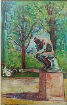 Edvard Munch - Rodin's Thinker