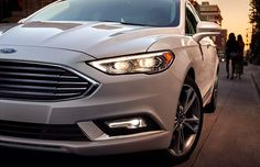 2017 Ford Fusion Platinum adds a leather-covered interior in which even the dashboard is wrapped in leather. Also, the steering wheel offers a thicker