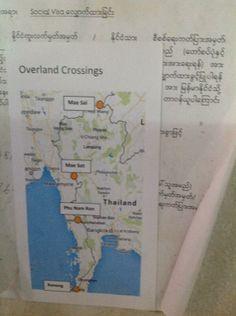 Ya tenemos el visado a Myanmar. Han abierto cuatro puntos de entrada por tierra. Se admite sugerencias.