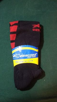 Original eescord Soccer Socks Color Black and Red #Eescord