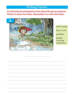 Writing skill -grade 3 - picture co mposition Picture Story Writing, Writing Pictures, Picture Writing Prompts, Paragraph Writing, Descriptive Writing Activities, Picture Comprehension, Reading Comprehension Worksheets, Writing Worksheets, Composition Writing