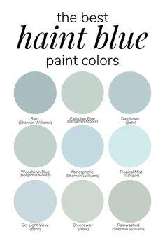 Blue Paint Colors, Exterior Paint Colors, Paint Colors For Home, House Colors, Ceiling Paint Colors, Blue Bedroom Paint, Bedroom Colors, Haint Blue Porch Ceiling, Farmhouse Paint Colors