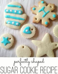 perfectly shaped sugar cookies