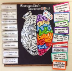 First week Art and Health activity. Have the kids make the brain out of…