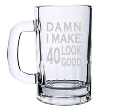 Reasonable Beer Stein Rock Spock Funny Novelty Christmas Birthday Frosted Pint Glass Online Discount