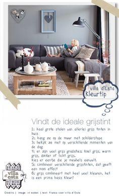 bank met grijze verf en witte meubeltjes