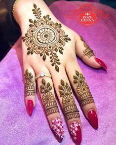 Flower Tikka Mehndi Design for Inner – Henna Bloq Indian Mehndi Designs, Back Hand Mehndi Designs, Mehndi Designs For Beginners, Modern Mehndi Designs, Mehndi Design Pictures, Mehndi Designs For Girls, Mehndi Designs For Fingers, Beautiful Henna Designs, Latest Mehndi Designs