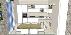 Progetto Living con cucina e tanti desideri – Mayday Casa Blog e Progetti Open Plan Kitchen Dining, Floor Plans, Interior Design, Blog, Furniture, Home Decor, Villa, Container, Houses