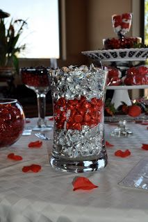 Totally Lauren Amber Red Black Bridal Shower Candy Buffet And More