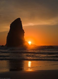 Sunset at Cannon Beach, OR  by Lynn Wiezycki