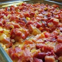 You could use leftover ham for this casserole or leave out the ham and serve this as a side dish with any main meat meal. Delicious served with either green beans or broccoli. Add a salad and bread, and you have a hearty meal.