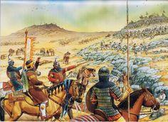 Saladino e suo figlio al-'Afdal alla battaglia di Hattin, 4 luglio 1187