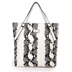 Fashion Michael Kors Crocodile-Embossed Large White Totes Online!