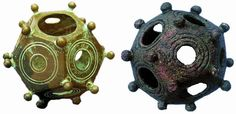 All throughout Europe, small geometric objects known as Roman dodecahedrons have been recovered. More than 100 of these strange objects are known to exist, and their purpose remains a puzzling mystery that has baffled archaeologists since their first discovery. As far north as Hadrian's Wall, and further south toward the Mediterranean, the dodecahedrons, usually made of bronze or stone, are seldom larger than about 8 to 10 cm in size.