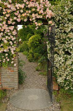 Flowery entrance, Packwood House Warwickshire