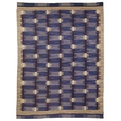 A Vintage Swedish Rug Signed AMH | From a unique collection of antique and modern russian and scandinavian rugs at http://www.1stdibs.com/furniture/rugs-carpets/russian-scandinavian-rugs/