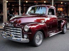 1955 GMC Pickup (Custom) she loves old trucks! Gmc Trucks, Cool Trucks, Cool Cars, Lifted Trucks, Toyota Trucks, Lifted Ford, Gmc Pickup, Old Pickup Trucks, Gmc Suv