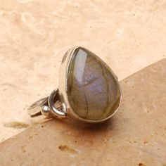 Natural Labradorite Gemstone Ring