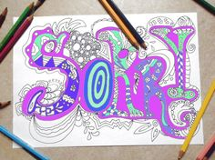sorry card adult coloring book kids colouring by LaSoffittaDiSte