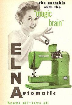 vintage sewing advertisement