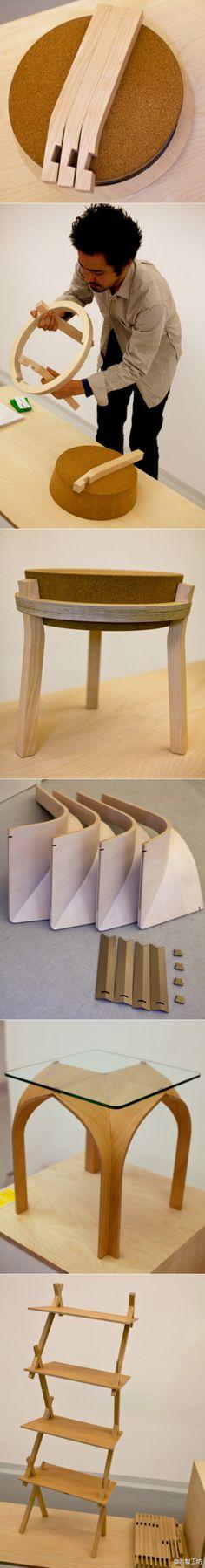 以平板包装为主题的家具作品