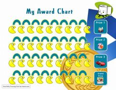My Awards Potty Training Chart Template with prizes