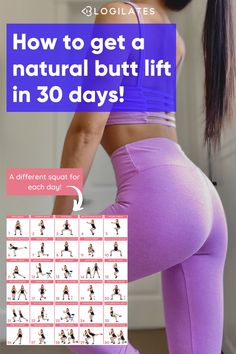 This pilates butt workout challenge is a great way to get in some round butt exercises for that natural booty lift! Try different variations of squats and lunges to help you hit your goals! Get the full challenge details and workout calendar at Blogilates. Month Workout, Workout Challenge, Squats And Lunges, Life Hacks For School, Blogilates, Workout Calendar, Butt Workouts, Pregnancy Workout, Stay Fit
