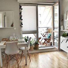 The decoration of small apartments is possible thanks to a good distribution and an optimal use of space,Small Apartment ideas Small Apartment Design, Small Space Design, Small Apartment Decorating, Apartment Interior, Small Apartments, Small Spaces, Room Color Design, Flat Interior, Hygge Home