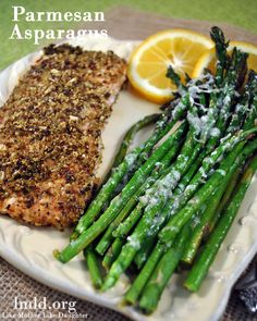Add a little parmesan to your asparagus to make it extra delicious!
