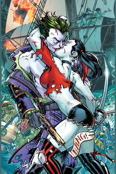 Crazy love joker & harley quinn --Be your own Whyld Girl with a wicked tee… Batman, Superman, Dc Comics, Comics Love, Gotham Comics, Comic Book Characters, Comic Character, Comic Books, Geeks
