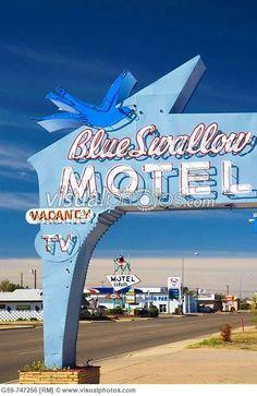 Blue Swallow Motel, Route 66 -  Tucumcari, New Mexico (looks like original sign)