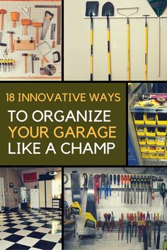 Are you someone that has a messing garage that is not organized. Here are 18 garage storage ideas that will help you organize your garage like a champ. | Ideahacks.com