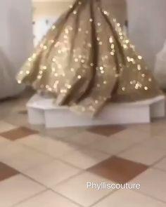 Sparkle wedding dress - Luxury Gold Sparkling Wedding Dresses with Long Sleeves 2020 – Sparkle wedding dress Gold Wedding Gowns, Indian Wedding Gowns, Lace Wedding Dress, Stunning Wedding Dresses, Sparkle Wedding, Luxury Wedding Dress, Gold Sparkle, Floral Wedding, Sparkle Gown