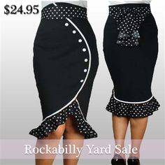 Rockabilly Pencil Skirt