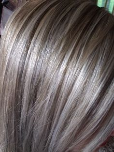 Medium Hair Styles, Curly Hair Styles, Grey Hair Transformation, Hair Highlights And Lowlights, Haircut And Color, Great Hair, Silver Hair, Synthetic Hair, Hair Looks