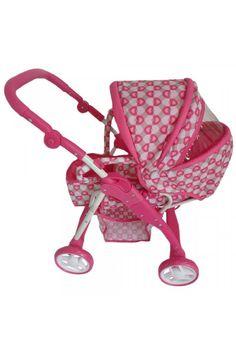 Detský kočík pre bábiky 2v1 Baby Mix ružový - srdiečka Baby Strollers, Children, Kids, Strollers, Sons, Child, Babies, Infant